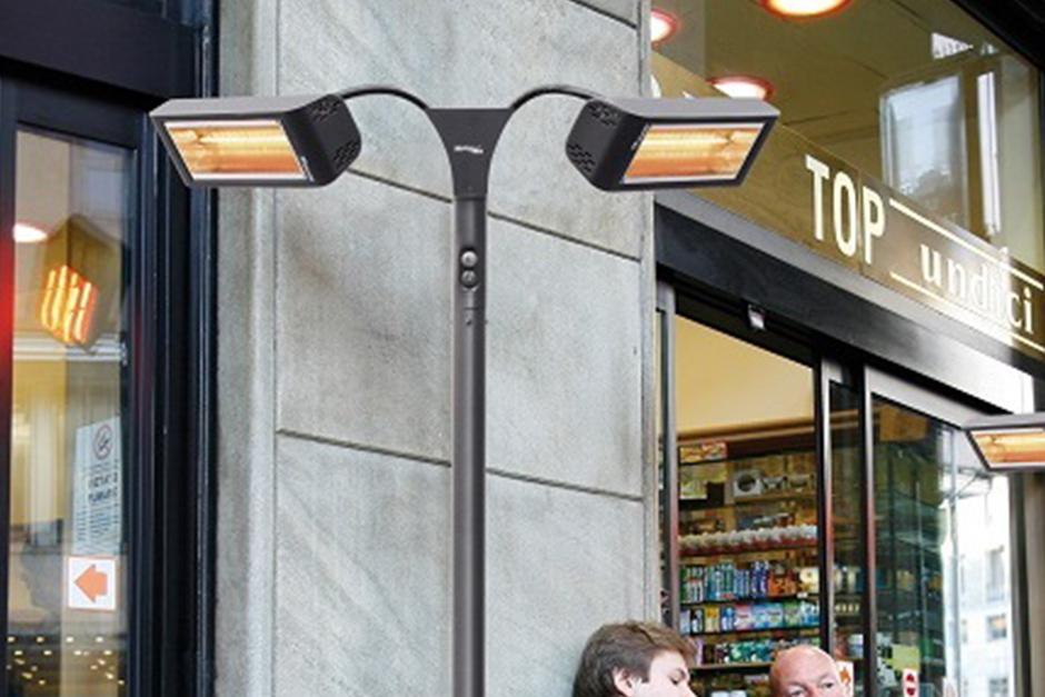 Инфраяервени нагреватели на улицата