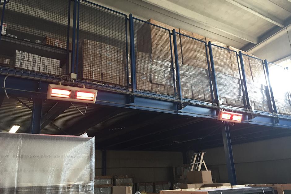 Индустриални инфрачервени отоплители в склад